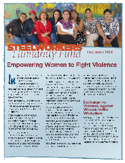 Steelworkers Humanity Fund Empowering Women to Fight Violence - Dec 2016
