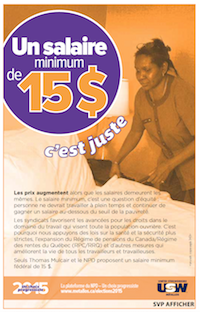 Un salaire minimum de 15$