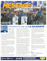 Message du directeur national – mars 2018