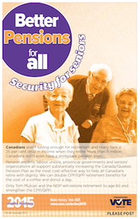 Better pensions for all - Security for seniors