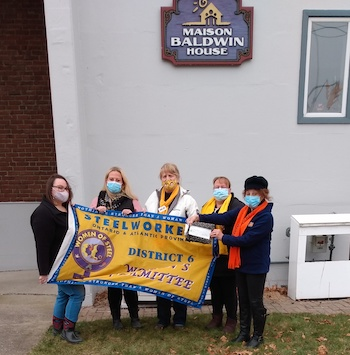 Women of Steel donate to Maison Baldwin House