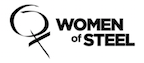 Women of Steel black and white logo