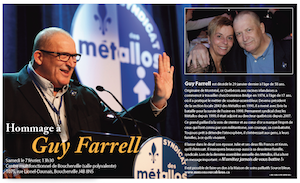 Memorial for Guy Farrell - invitation